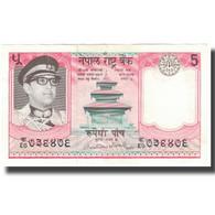 Billet, Népal, 5 Rupees, 1974, KM:23a, SUP - Népal