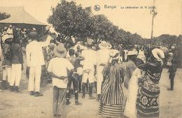 Bangui (République Centre-Africaine A.E.F.) - La Célébration Du 14 Juillet - Carte Nels Non Circulée - República Centroafricana