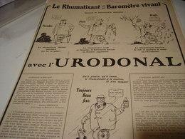 ANCIENNE PUBLICITE CONTRE RHUMATISANT URODONAL  1919 - Publicidad