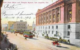 Los Angeles, California CA - New Post Office And Temple Square - Los Angeles