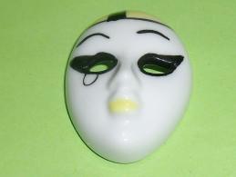 Fèves / Autres / Divers : Masque, 4,5cm / 3,5cm, Jaune, Blanc T26 - Fèves