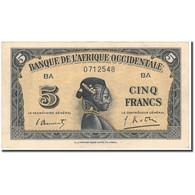 Billet, French West Africa, 5 Francs, 1942-12-14, KM:28b, SUP - États D'Afrique De L'Ouest