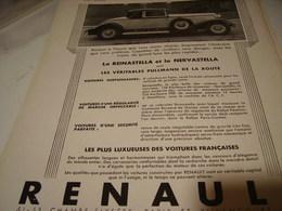 ANCIENNE PUBLICITE AUTO   RENAULT 1931 - Publicidad