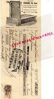 31- TOULOUSE- RARE MANDAT TRAITE MAISON FOURBIL FILS AINE-BALANCERIE -FABRIQUE BALANCES POIDS-16 RUE AUSTERLITZ-1936 - Old Professions