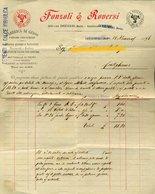 59 SANSEVERINO  MARCHE , TERNI 1896 FONZOLI & ROVERSI OPIFICI E CAVE,  FABBRICA DI GESSO  Fattura - Italy