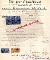 78- VERSAILLES- RARE LETTRE ETS LOUVIOT FABRICANT AMEUBLEMENT-EBENISTERIE TAPISSERIE-EBENISTE 1950 - Artigianato