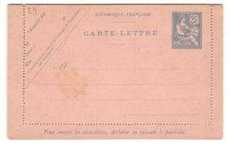 8883 - MOUCHON Retouché  25 C Bleu - Enteros Postales