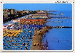 Valverde - Panorama Della Spiaggia E Alberghi - Formato Grande Viaggiata – E 8 - Rimini