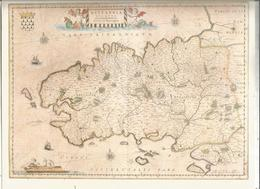 Réédition , Carte BRITANNIA , DUCATUS , Duché De Bretagne , Blaeu, 28.5 X 22.5 , Frais Fr 1.95e - Carte Geographique