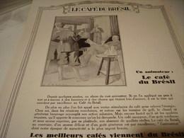 ANCIENNE PUBLICITE ANIMATEUR  CAFE BRESIL  1929 - Posters