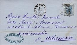 Un Annullo Per Paese Colle Di Val D'Elsa (Siena) Numerale  Doppio Cerchio + Punti - Storia Postale