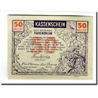 Billet, Autriche, Tausend Blumen, 50 Heller, Personnage 2, 1920, SPL, Mehl:1060 - Autriche