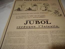 ANCIENNE PUBLICITE MEDICAMENT JUBOL REEDUQUE  L INTESTIN 1919 - Publicidad
