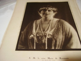 PHOTO LA REINE MARIE  DE ROUMANIE 1919 - Manifesti
