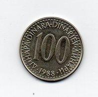Jugoslavia - 1988 - 100 Dinara - Vedi Foto - (MW1614) - Jugoslavia