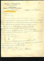69 SAN BENEDETTO DEL TRONTO 1945 ANDREA VOLTATTORNI , MEDIATORE MARITTIMO , VIA CALATAFIMI  , LETTERA INTESTATA - Italie