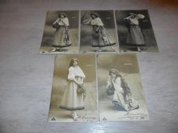 Femme ( 1165 )  Vrouw - Serie Van 5 Postkaarten - Serie De 5 Cartes Postales   Mignon - Femmes