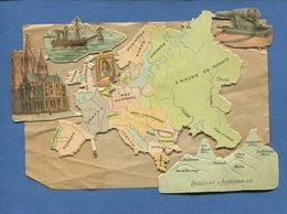 RARE Aiguebelle Ensemble Chromo Découpis Continent EUROPE Montagnes Pays Géographie  Papier Lire Dos - Aiguebelle