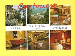 CPSM 06 CASTILLON Restaurant Hôtel La Bergerie Route De Menton Sospel - Hotels & Restaurants