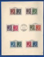 Premiere Emission De Timbres Poste Après La Liberation   Oblitération 6/11/1944 - Cartes Commémoratives