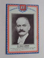 M. Albert LEBRUN Président De La République ( Photo G.-L. MANUEL Paris ) > Voir Photo Svp ! - Histoire