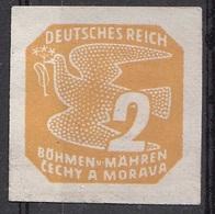28 Boemia E Moravia 1939 NEWSPAPER STAMPS - Carrier Pigeon  Nuovo - Boemia E Moravia