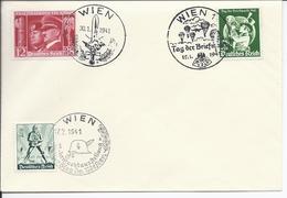 Dt- Reich (002862) Propaganda Beleg Mit MNR 762, 763, 745, Und 3 Versch. Sonderstempel Wien Von 1941 - Germany