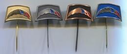 Parachute Skydiving Jump - Yugoslavia, Vintage Pin, Badge, Abzeichen, 4 Pcs - Parachutting