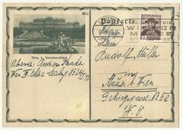 Austria , Wien 3 Belvedere , Flam Wienner Messe 1937 - Postwaardestukken