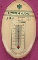 Tielt Tielt  A. VERBEKE & SON Thermomètre - Advertising (Porcelain) Signs