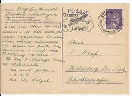 Dt.- Reich (002893) Propaganda Ganzsache P299, Gelaufen Stuttgart Und Werbestempel Benutze Die Luftpost Am 9.3.1942 - Deutschland