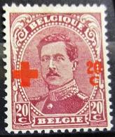 BELGIQUE              N° 155                   NEUF SANS GOMME - 1918 Rotes Kreuz
