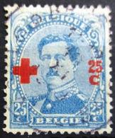 BELGIQUE              N° 156                   OBLITERE - 1918 Rotes Kreuz