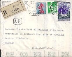 35 - ILLE ET VILAINE - FEINS - 1961 - TàD De Type F7 - Handstempel