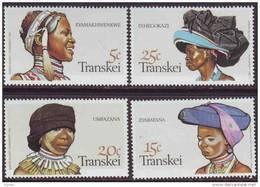 D90819 Transkei 1981 South Africa TRADITIONAL HEADRESS MNH Set - Afrique Du Sud Afrika RSA Sudafrika - Transkei