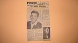 CIRQUE PINDER - LUIS MARIANO - CHARLES SPIESSERT - MIMI POLA PLUS JEUNE VEDETTE DU SPECTACLE 57. - Vieux Papiers