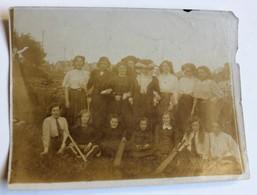 Rare Hove Angleterre Photo Originale 1910 Match De Cricket Capitaine Miss King Groupe D'aspirantes Jeunes Femmes - England