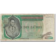 Billet, Zaïre, 10 Zaïres, 1981-01-04, KM:24b, B+ - Zaïre