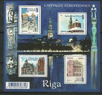 France 2015 Yt F 4938 N** Capitales Européennes Riga - Blocs & Feuillets