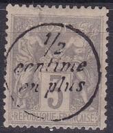 France, Yvert N° 87 Surchargé 1/2 Centime En Plus - France
