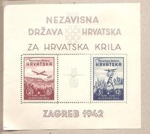 Croazia - BF 1 Dentellato Nuovo - A Favore Delle Forze Aeree Croate - 1942 * G - Croazia
