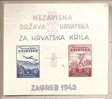 Croazia - BF 2 Non Dentellato Nuovo - A Favore Delle Forze Aeree Croate - 1942 * G - Croazia
