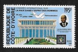Ivory Coast 1989 Int'l Peace Congress MNH - Ivory Coast (1960-...)