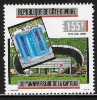 Ivory Coast 1989 Capteao Postal & Communication Conference MNH - Ivory Coast (1960-...)