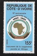 Ivory Coast 1990 Pan-African Union 10th Anniversary MNH - Ivory Coast (1960-...)