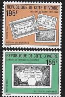 Ivory Coast 1990 History Of Money MNH - Ivory Coast (1960-...)