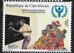 Ivory Coast 1990 Int'l Literacy Year MNH - Ivory Coast (1960-...)