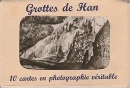 18/0/343. - POCHETTE  DE  10  CARTES  GROTTES  DE  HAN  ( BELGIQUE )  CPSM - Postcards