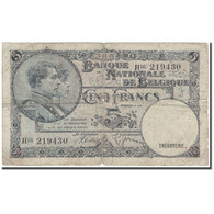 Billet, Belgique, 5 Francs, 1938-04-26, KM:108x, B - [ 2] 1831-... : Regno Del Belgio
