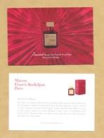 Carte Promo Perfume Card MAISON FRANCIS KURKDJIAN PARIS * 10 X 15 Cm * R/V - Modernes (à Partir De 1961)